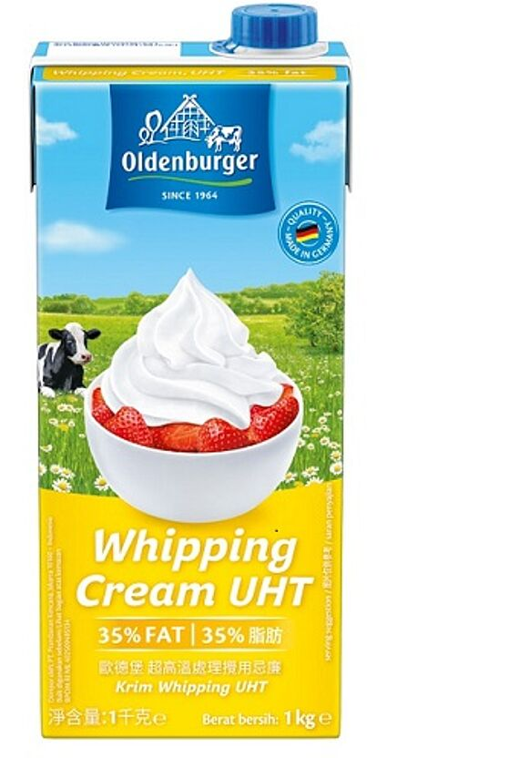 Oldenburger Whipping Cream, UHT, 35% fat, 1kg