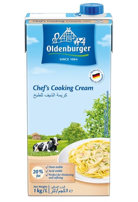 Oldenburger Chef's Cooking Cream, UHT, 20% fat, 1kg