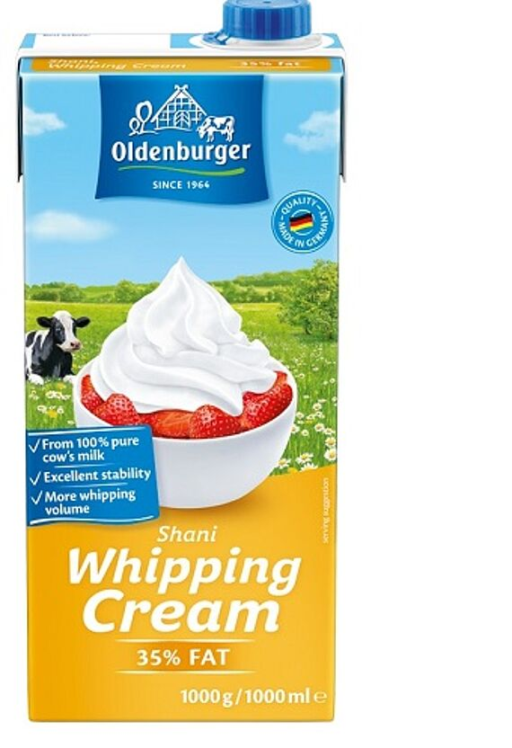 Oldenburger SHANI Whipping Cream, UHT, 35% fat, 1kg
