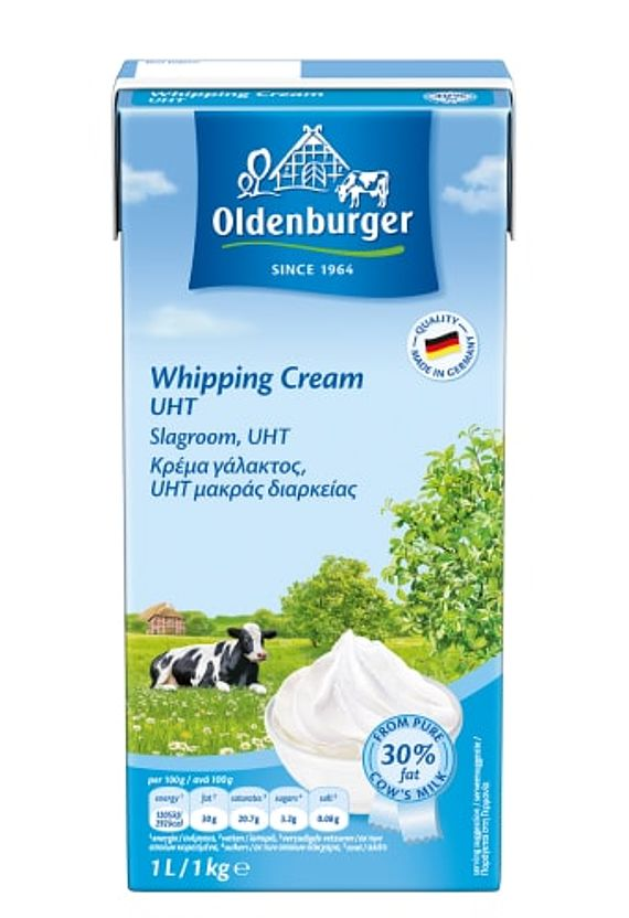 Oldenburger Whipping Cream, UHT, 30% fat, 1kg