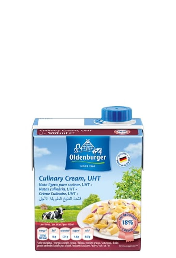 Oldenburger Culinary Cream, UHT, 18% fat, 500ml