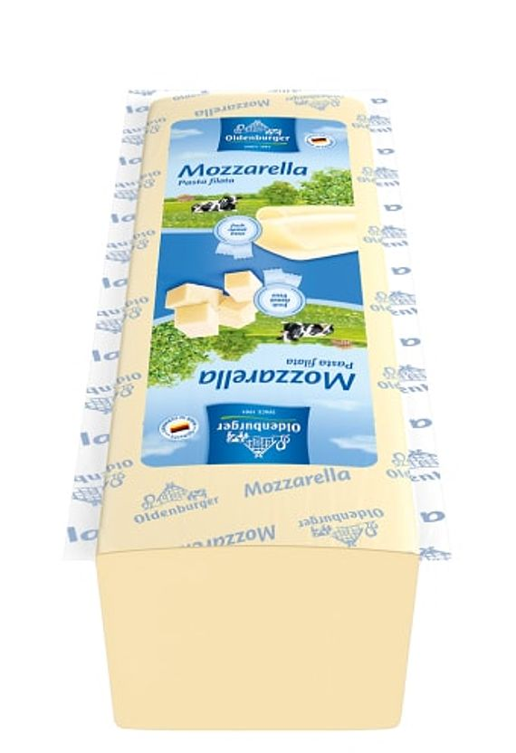 Oldenburger Mozzarella 40% fat i.d.m., 2.5kg