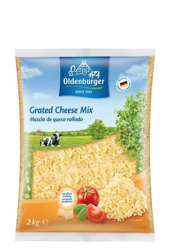Oldenburger Grated Cheese Mix 45% fat i.d.m., 2kg