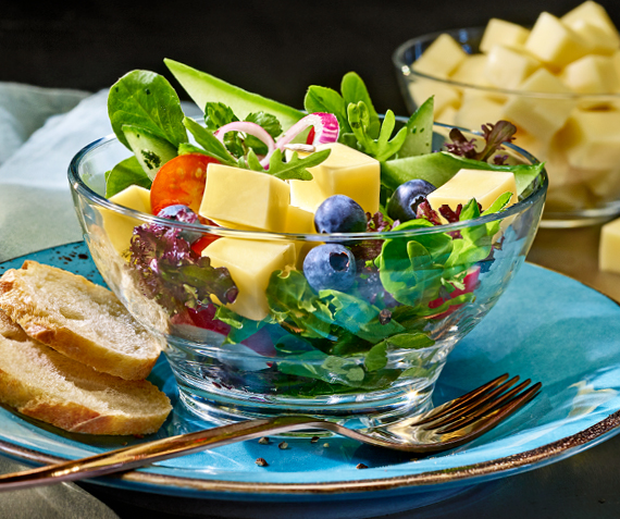 Cheese & Blueberry Salad