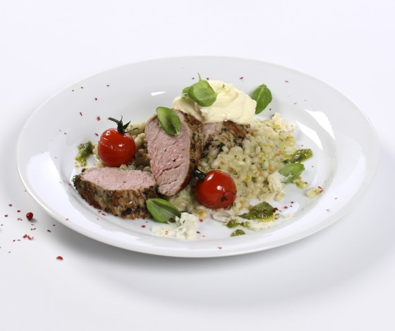 Pearl Barley Risotto with Filet of Veal