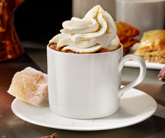 Turkish Mocha with Cardamom Cream