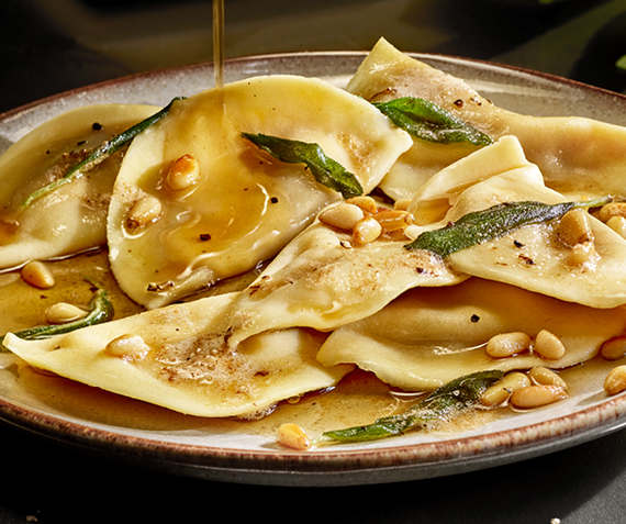Ravioli with Sage Butter Sauce